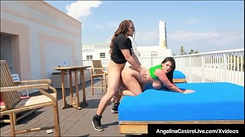 Curvy Cuban Angelina Castro Is Pussy Pounded On Hotel Roof